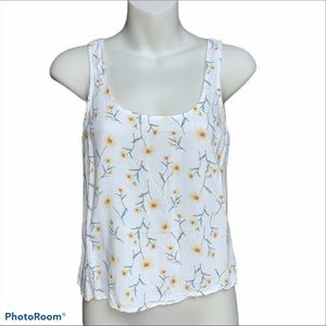 Forever 21 cream/yellow crop top size small